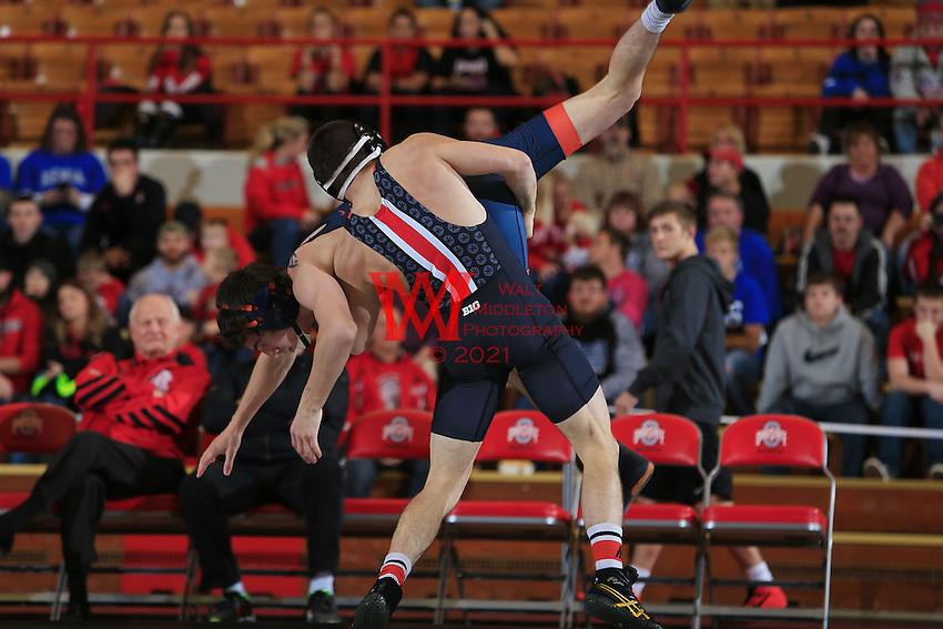 The Ohio State University Wrestling team defeats Virginia 34-6 at St. John's Arena, Columbus Ohio, November 13, 2015