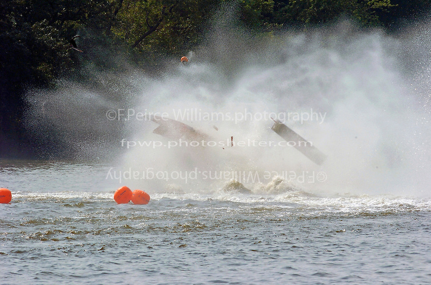 Frame 8: Alan Tucker (#04) barrel rolls after failing to hold his lane in turn one, riding up over his competitors wake and flipping.