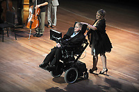 ***FILE PHOTO*** STEPHEN HAWKING HAS PASSED AWAY<br /> <br /> NEW YORK, NY - JUNE 2: Physicist Stephen Hawking at the 2010 World Science Festival Opening Night Gala at Alice Tully Hall, Lincoln Center in New York City. June 2, 2010. Credit: Dennis Van Tine/MediaPunch