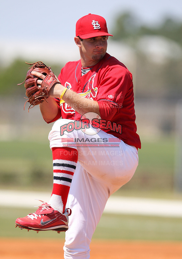 March 19, 2010:  Pitcher Shaun Garceau of the St. Louis Cardinals organization during Spring Training at the Roger Dean Stadium Complex in Jupiter, FL.  Photo By Mike Janes/Four Seam Images
