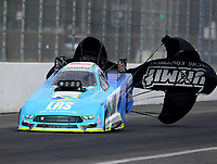Feb 10, 2018; Pomona, CA, USA; NHRA funny car driver Tim Wilkerson during qualifying for the Winternationals at Auto Club Raceway at Pomona. Mandatory Credit: Mark J. Rebilas-USA TODAY Sports
