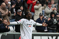 Pictured: Jason Scotland of Swansea City Celebrates<br /> Re: Coca Cola Championship, Swansea City Football Club v Watford at the Liberty Stadium, Swansea, south Wales 09 November 2008.<br /> Picture by Dimitrios Legakis Photography (Athena Picture Agency), Swansea, 07815441513