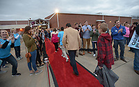 NWA Democrat-Gazette/ANDY SHUPE<br /> Friday, Feb. 9, 2018, during the Night to Shine, a prom night for people with special needs ages 14 and older, at Cross Church in Springdale. The event, which is sponsored by the Tim Tebow Foundation, features hair and makeup assistance, limousine rides, a dinner and dancing.