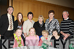 ENJOYING: Enjoying themselfs at the annual Lixnaw GAA Hurling Social in Ballyroe Heights Hotel, Tralee on Friday night. Seated l-r: Marian Sheehy, Kay Conway, Maggie Conway and Peggy Sheehy. Standing l-r: Johnny Conway, Siobhan Diggin, Kathleen Diggin, Margaret Sheehy, Mary Barrett and Anthony Sheehy.... ....
