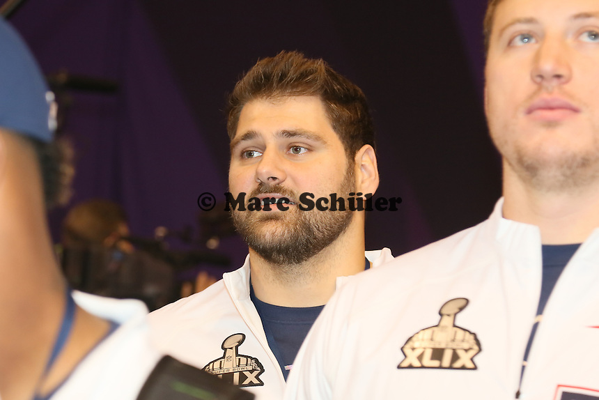 Sebastian Vollmer (Patriots)  - Super Bowl XLIX Media Day, US Airways Center, Phoenix