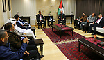 Palestinian Prime Minister, Rami Hamdallah, meets with Arab delegations participating in the support of Jerusalem Conference, in the West Bank city of Ramallah, on December 27, 2018. Photo by Prime Minister Office