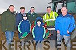PLOUGHING:Tony and Tom O'carroll (causeway) getting some help in putting their ploug position at the Abbeydorney Ploughing Competition on Sunday l-r: Tom Leslie (Killarney), Tony O'Carroll, ColinRyan Wharton, Thomas O'Carroll, Liam and Tony Wharton Killarney).