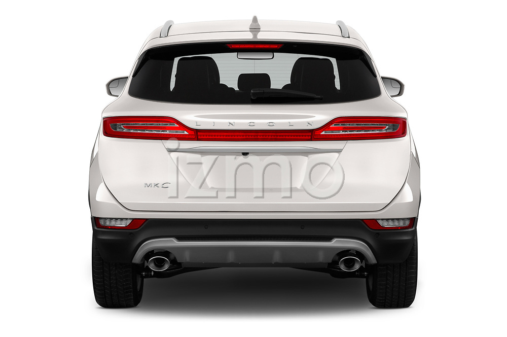 Straight rear view of a 2019 Lincoln MKC Base 5 Door SUV stock images