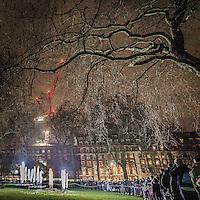 Lumiere London: festival delle installazioni luminose nei luoghi più suggestivi di Londra. Grosvenoor Square a Mayfair<br /> <br /> Lumiere London: the lights festival across the iconic locations of London. Grosvenor Square in Mayfair