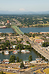 Aerial of the Oregon & Washington Interstate 5 Bridge