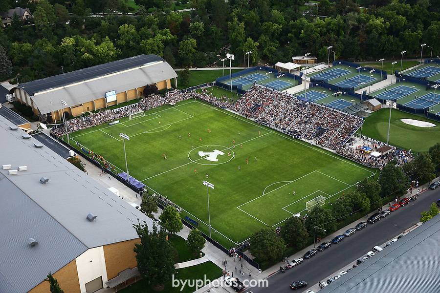 1309-22 4104<br /> <br /> 1309-22 BYU Campus Aerials<br /> <br /> Brigham Young University Campus, Provo, <br /> <br /> Smith Fieldhouse South Field SFLD, BYU Soccer, <br /> <br /> September 6, 2013<br /> <br /> Photo by Jaren Wilkey/BYU<br /> <br /> © BYU PHOTO 2013<br /> All Rights Reserved<br /> photo@byu.edu  (801)422-7322