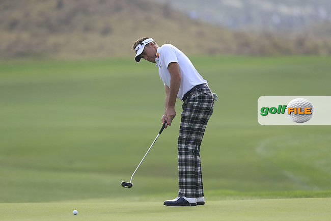 Ian Poulter (ENG) on the 8th green during the BMW Masters at Lake Malaren Golf Club in Boshan, Shanghai, China on Sunday 15/11/15.<br /> Picture: Thos Caffrey | Golffile<br /> <br /> All photo usage must carry mandatory copyright credit (&copy; Golffile | Thos Caffrey)