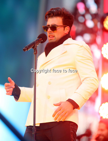New York, NY-December 31: Jencarlos Canela at the 2014 New Years Eve Celebration held in Times Square on December 31, 2013 in New York City.<br />
