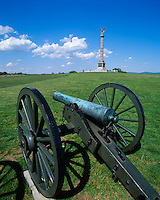 Anteitam National Battlefield, MD<br /> Cannon and distant New York Monument