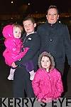 Pictured at the Aquadome fireworks on New Year's Eve were l-r: Abbie, Aaron Leah and Gretta O'Brien (Tralee).