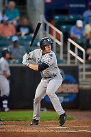 Staten Island Yankees catcher Josh Breaux (28) at bat during a game against the Aberdeen IronBirds on August 23, 2018 at Leidos Field at Ripken Stadium in Aberdeen, Maryland.  Aberdeen defeated Staten Island 6-2.  (Mike Janes/Four Seam Images)