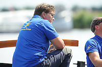 SKÛTSJESILEN: DE VEENHOOP: 20-07-2015, SKS kampioenschap 2015, winnaar werd Albert Jzn. Visser met het skûtsje van Lemmer, ©foto Martin de Jong