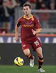 Calcio, Serie A: Roma vs Milan. Roma, stadio Olimpico, 22 dicembre 2012..AS Roma midfielder Miralem Pjanic, of Bosnia, in action during the Italian Serie A football match between AS Roma and AC Milan at Rome's Olympic stadium, 22 December 2012.UPDATE IMAGES PRESS/Riccardo De Luca