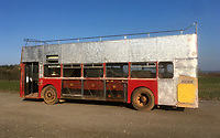 BNPS.co.uk (01202 558833)<br /> Pic: BearCrossBusCo/BNPS <br /> <br /> The bus during restoration.<br /> <br /> A small group of volunteers have reintroduced a historic seaside bus service after spending five years restoring the original bus that travelled the route 50 years ago.<br /> <br /> The classic yellow open top 1965 Daimler Fleetline double decker is back running the old 'Route 12'  service between Bournemouth and Hengistbury Head.<br /> <br /> The volunteers drive and conduct the bus, as well as maintaining it and producing the timetables and bus stop flags.<br /> <br /> The vintage Bournemouth Corporation Transport bus ran along the idyllic five mile stretch of Dorset coastline from 1965 to 1977.<br /> <br /> But it had fallen into a 'sorry state' and was languishing in a depot when it was purchased by the volunteers from a bus operator in Purfleet, Essex, for £2,000 in 2014.