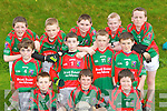 Scoil Realt na Mara, Tousist pupils who played in the Cumann na mBunscoil County mini-sevens finals in Fitzgerald Stadium, Killarney on Friday front row: Tommy Cronin, Micheal McCarthy, Seamus Browne. Middle row: Dan McCarthy, Jack May, Eamon Harrington, Bryan Twomey. Back row: Cormac O'Sullivan, Daniel Fitzgerald, David Cronin, Jamie Harrington and Tadhg Siochiu...