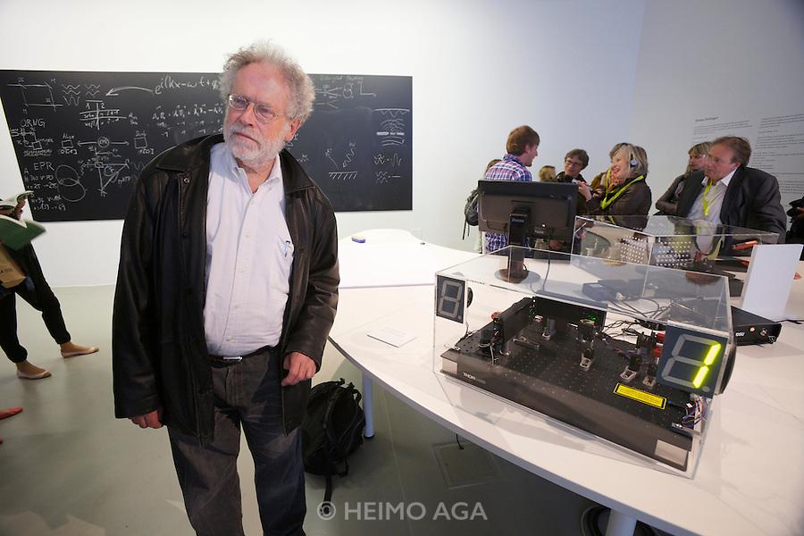 "dOCUMENTA (13) in Kassel, Germany..Friedericianum..Anton Zeilinger (l). ""Quantum Now"", 2012."