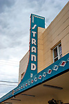 Strand theater sign in Kalispell, Montana