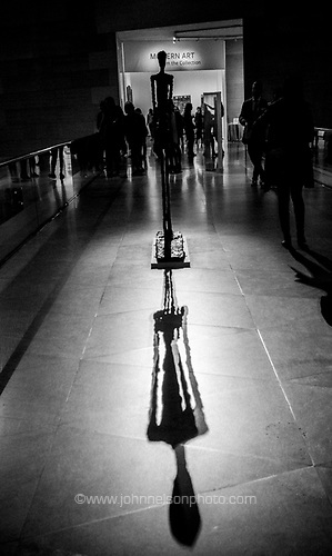 Walking Man II Alberto Giacometti at the National Gallery of Art in Washington, DC USA 09 March 2017