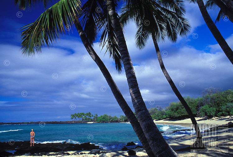 State beach near Kona, Big Island of Hawaii