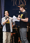 T.R. Knight and Micah Stock performing at United presents 'Stars in the Alley' in  Shubert Alley on May 27, 2015 in New York City.