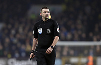 Referee Michael Oliver<br /> <br /> Photographer Rich Linley/CameraSport<br /> <br /> The Premier League - Burnley v Everton - Wednesday 26th December 2018 - Turf Moor - Burnley<br /> <br /> World Copyright &copy; 2018 CameraSport. All rights reserved. 43 Linden Ave. Countesthorpe. Leicester. England. LE8 5PG - Tel: +44 (0) 116 277 4147 - admin@camerasport.com - www.camerasport.com