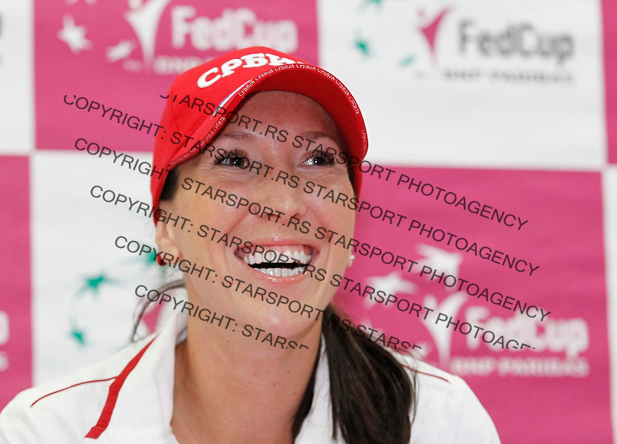 Fed Cup.Russia Vs. Serbia,World group A, semifinal.Pre draw press conference.Jelena Jankovic .Moscow, 18.04.2012..foto: Srdjan Stevanovic/Starsportphoto ©