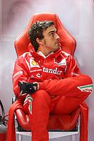 HOCKENHEIM, ALEMANHA, 20 JULHO 2012 - FORMULA 1 - GP DA ALEMANHA -   O piloto espanhol Fernando Alonso da equipe Ferrari durante o primeiro dia de treinos livres no circuito de Hockenheim nesta sexta-feira, 20. Domingo acontece a 10 etapa da F1 no GP da Alemanha. (FOTO: PIXATHLON / BRAZIL PHOTO PRESS).