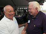 Arnie Abrams and Dick Yarwood  seen at Newsday Family Reunion at the Pavilion at Sunken Meadow State Park in Kings Park, NY,  on Thursday August 12, 2010. Photo © Jim Peppler 2010.