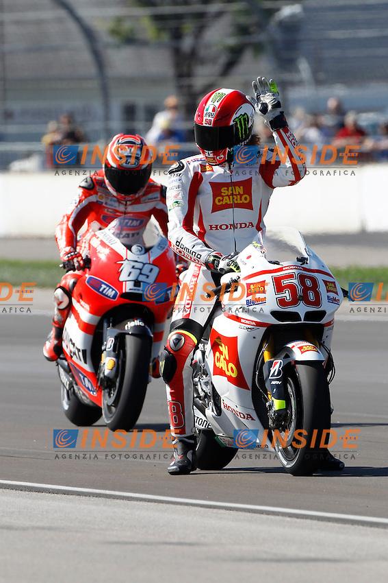 .26-08-2011 Indianapolis (USA).Motogp - Motogp.in the picture: Marco Simoncelli - San Carlo Gresini Team