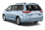 Car pictures of rear three quarter view of 2017 Toyota Sienna Limited 5 Door Minivan Angular Rear
