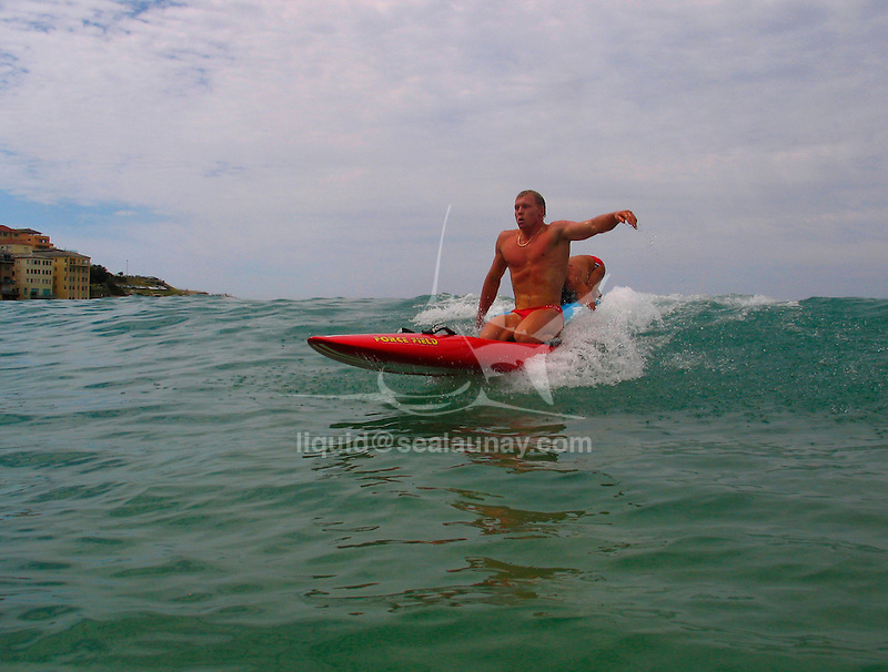 Paddle Board contest at North Bondi.