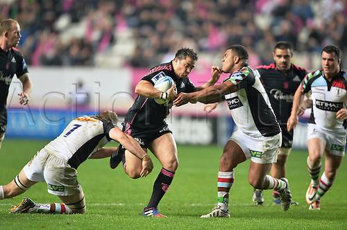 04.04.2014. Paris, France. Amlin Challenge Cup Rugby. Stade Francais versus Harlequins.  Laurent Sempere (sf)