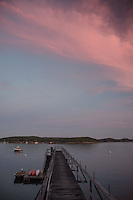 Dusk from Boathouse, Castine, Maine, US
