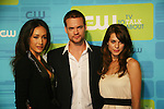Young and Restless Lyndsy Fonseca joins castmates Maggie Q and Shane West who all star in Nikita at The CW Upfront 2010 green carpet arrivals on May 20, 2010 at Madison Square Gardens, New York, New York. (Photo by Sue Coflin/Max Photos)
