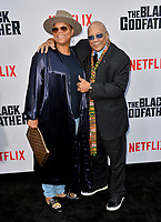 "LOS ANGELES, USA. June 04, 2019: Queen Latifah & Quincy Jones at the premiere for ""The Black Godfather"" at Paramount Theatre.<br /> Picture: Paul Smith/Featureflash"