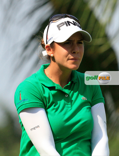 Azahara Munoz (ESP) on the 2nd tee during Round 3 of the HSBC Women's Champions at the Sentosa Golf Club, The Serapong Course in Singapore on Saturday 7th March 2015.<br /> Picture:  Thos Caffrey / www.golffile.ie