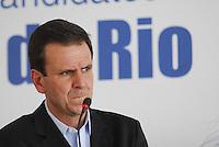 ELEIÇÕES 2012 - EDUARDO PAES PREFEITO E CANDIDATO A REELEIÇÃO.RIO DE JANEIRO,RJ  21 DE AGOSTO 2012 - Nesta manhã de terça feira 21, o prefeito da cidade do Rio de Janeiro, almoça na associação comercial da cidade do Rio de Janeiro.FOTO RONALDO BRANDÃO/BRAZILPHOTO PRESS
