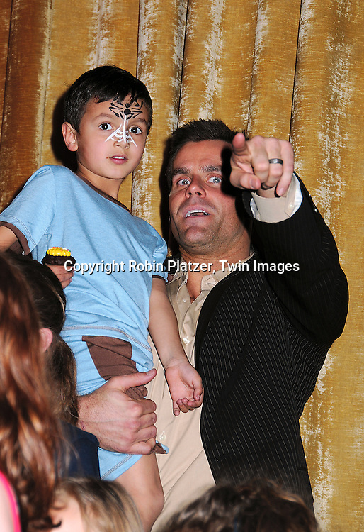 Cameron Mathison and son Lucas at The Love Our Children USA National Love Our Children Day on April 5, 2008 at Spotlight Live in New York City which was hosted by Cameron Mathison. ....Robin Platzer, Twin Images