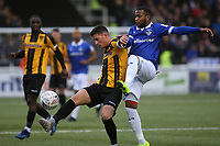 Jack Paxman of Maidstone United and Oldham's Gevaro Nepomuceno during Maidstone United vs Oldham Athletic, Emirates FA Cup Football at the Gallagher Stadium on 1st December 2018