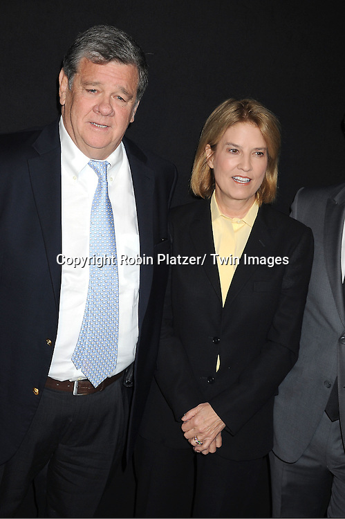 Greta Van Susteron and guest attending the Kim Kardashian and husband Kris Humphries Welcome to New York Party on August 31, 2011 at Capitale in New York City.