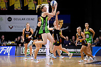 Pulse&rsquo; Katrina Rore in action during the ANZ Premiership - Pulse v Magic at TSB Bank Arena, Wellington, New Zealand on Sunday 21 April 2019. <br /> Photo by Masanori Udagawa. <br /> www.photowellington.photoshelter.com