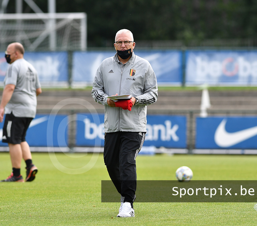 Belgian assistant coach Eric Van Meir pictured during a friendly soccer game between the national teams Under19 Youth teams of Belgium and Germany on tuesday 8 th of September 2020  in Genk , Belgium . PHOTO SPORTPIX.BE | SPP | DAVID CATRY