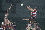 Adam Cathcart manages to get above the opposition to claim lineout ball. ITM Cup Round 4 and Ranfurly Shield rugby game between Counties Manukau Steelers and Southland, played at Rugby Park Invercargill, on Friday July 29th 2011..Southland won the game 22 - 14 after leading 13 - 6 at halftime.