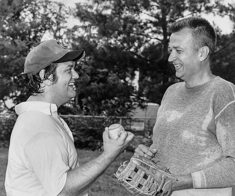 Rep. Ronald M. Mottle, D-Ohio with Davis in 1983. (Photo by CQ Roll Call)