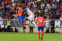 Harrison, NJ - Friday Sept. 01, 2017: Celso Borges, Jozy Altidore during a 2017 FIFA World Cup Qualifier between the United States (USA) and Costa Rica (CRC) at Red Bull Arena.